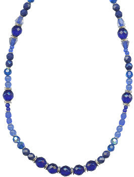"COBALT TONES 30"" NECKLACE"