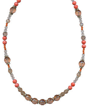 "CORAL TONES 30"" NECKLACE"