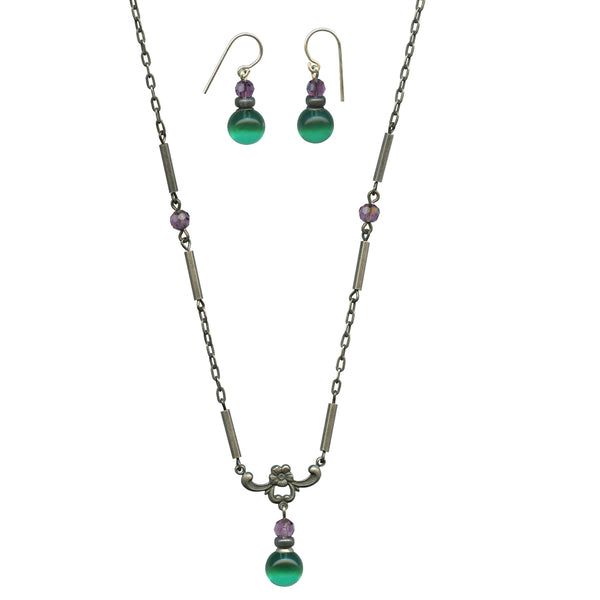 HYDE PARK 7 EARRINGS AND NECKLACE SET