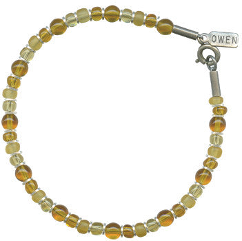 SILVER BRIGHTS LIGHT TOPAZ BRACELET