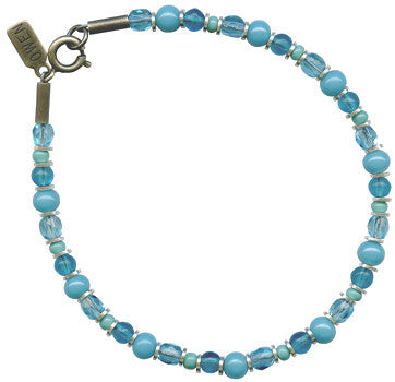 SILVER BRIGHTS TURQUOISE BRACELET