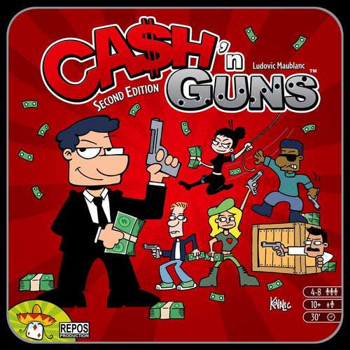 Ca$h 'n Guns (Second Edition) - Rent A Meeple