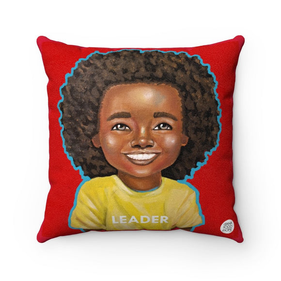 All Smiles (Leader) Square Pillow - Fearlessly Hue by Dana Todd Pope
