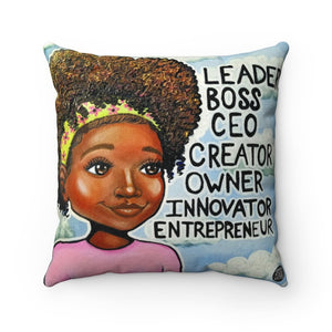 L.B.C. II Square Pillow - Fearlessly Hue by Dana Todd Pope