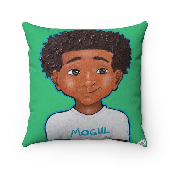 Lil' Mogul Square Pillow - Fearlessly Hue by Dana Todd Pope