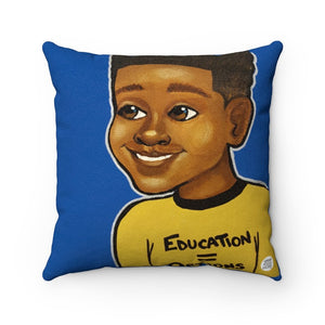 Education + Options (Boy) Square Pillow - Fearlessly Hue by Dana Todd Pope