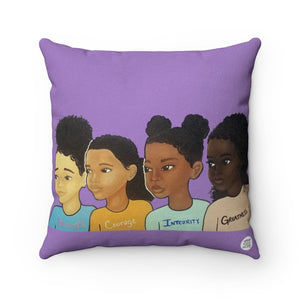 SCIG (Girls) Square Pillow - Fearlessly Hue by Dana Todd Pope