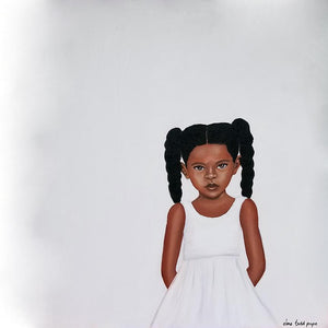 """Because Being Black in a White Space is a Real Thing, 4"" Print on Paper - Fearlessly Hue by Dana Todd Pope"