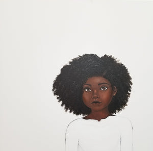 """Because Being Black in a White Space is a Real Thing... 1"" Print on Paper - Fearlessly Hue by Dana Todd Pope"