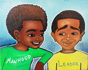 """Manhood and Leadership"" Print on Paper - Fearlessly Hue by Dana Todd Pope"
