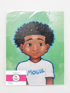 """Lil' Mogul""- Print on Paper - Fearlessly Hue by Dana Todd Pope"
