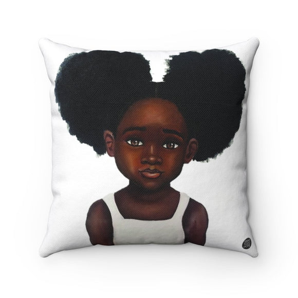 Because Being Black in a White Space is a Real Thing, III Premium Square Pillow - Fearlessly Hue by Dana Todd Pope