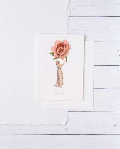 Greeting Card - Cabbage Rose