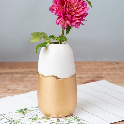 Domino Vase - Cabbage Rose