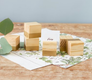 Solid Wood Place Card Holder