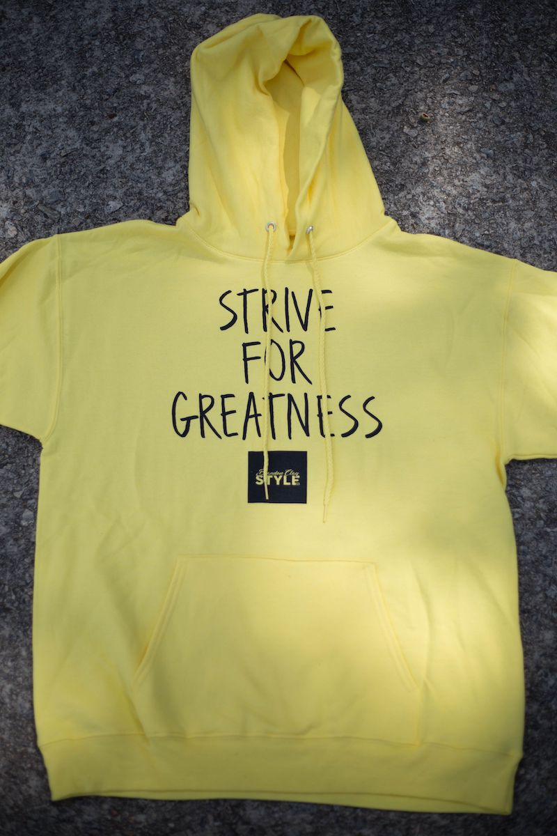 BCLSFW191: #StriveForGreatness Hoodie - Canary Yellow
