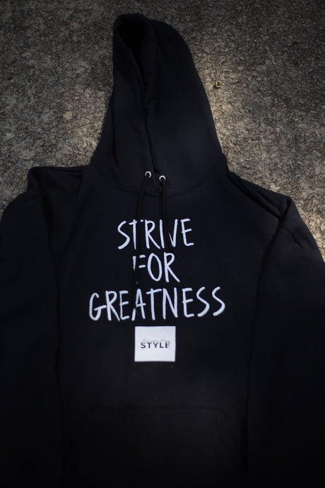 BCLSFW192: #StriveForGreatness Hoodie - Jet Black
