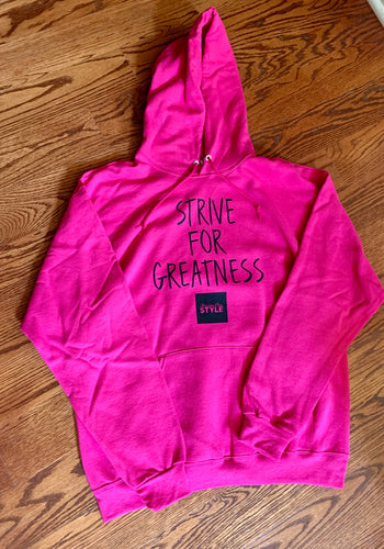 BCLSFW193: #StriveForGreatness Hoodie - Neon Pink