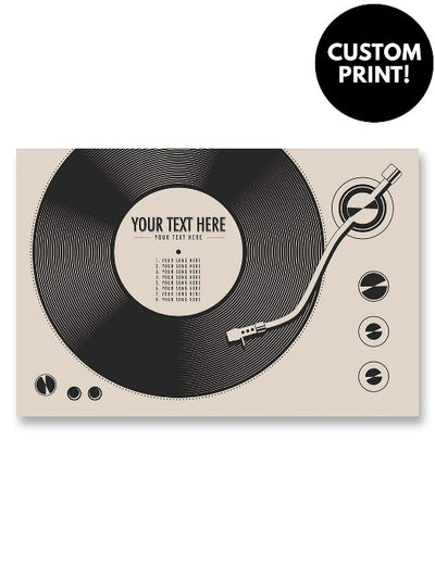 Personalized Vinyl Record Poster Cream