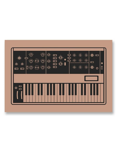 Moog Minimoog Synthesizer Poster Pink