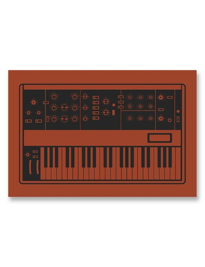 Moog Minimoog Synthesizer Poster Red