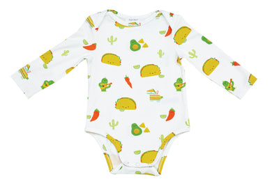 Taco Party Onesie with Lap Shoulder Opening