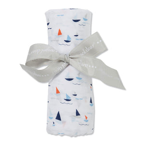 Sail Boats - Muslin Swaddle Blanket