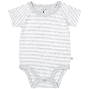 Grey Striped Onesie (Organic Cotton)