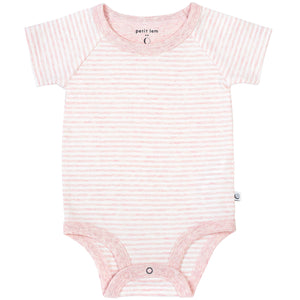 Pink Striped Onesie (Organic Cotton)