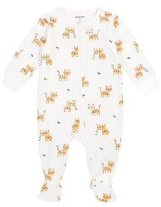 Organic Cotton Footie- Tigers