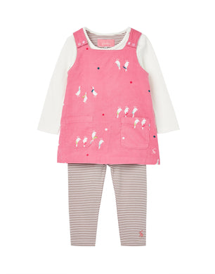 Miya Set -Pinafore + Long Sleeve Top + Leggings (0-24 Months)