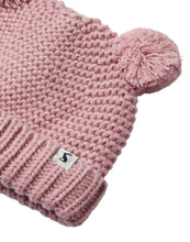 Load image into Gallery viewer, Pom Pom Knitted Hat- Cherry Blossom (0-24 Months)
