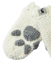 Load image into Gallery viewer, Paws Paw Print Baby Mittens- Cream  (6-24 Months)