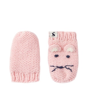 Pale Pink Mouse Baby Chummy Mittens (6-24 Months)