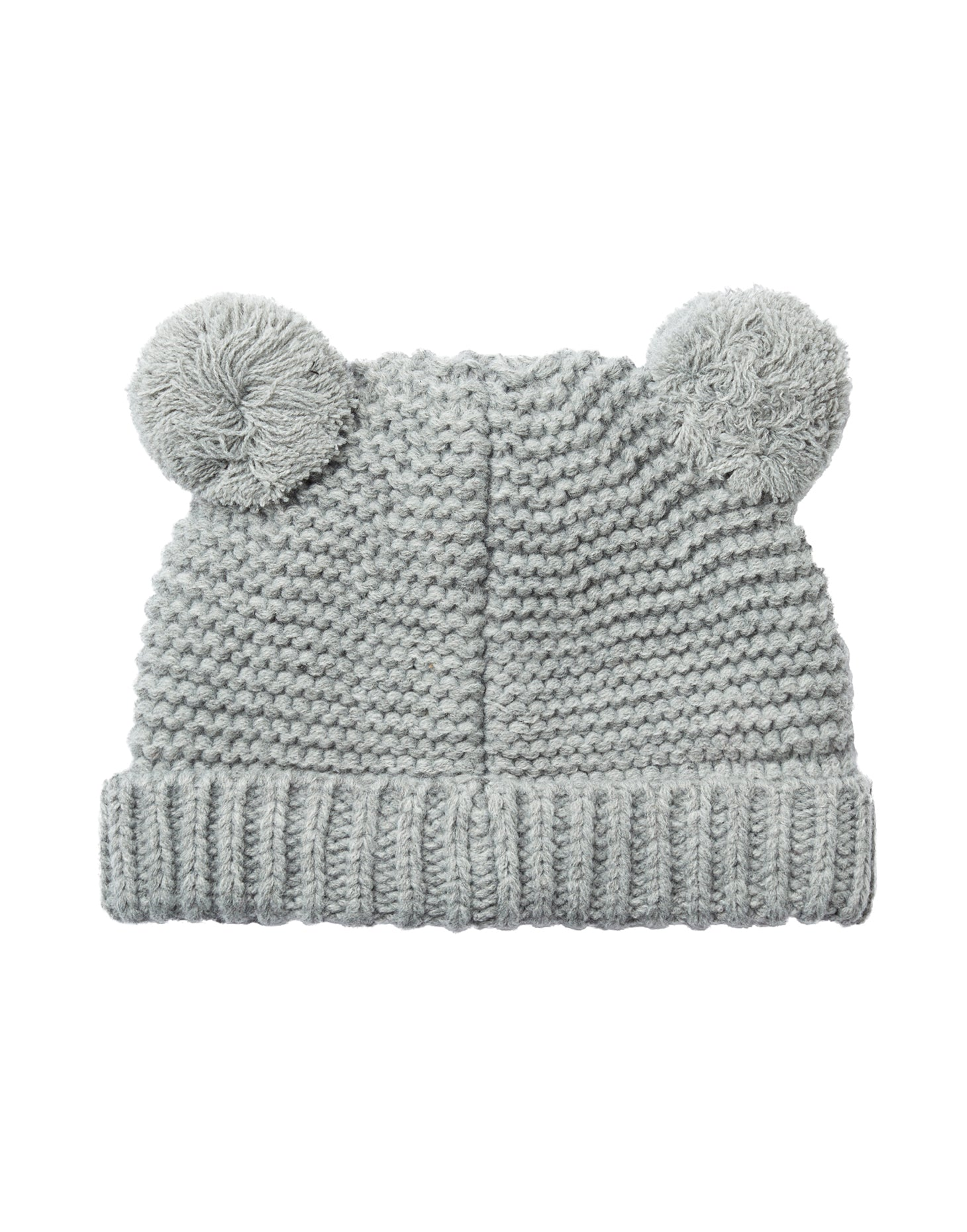 Grey Marl Pom Pom Knitted Hat