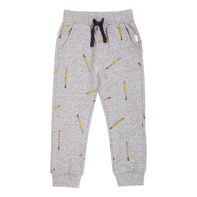 School Pencils- Heather Grey Jogger