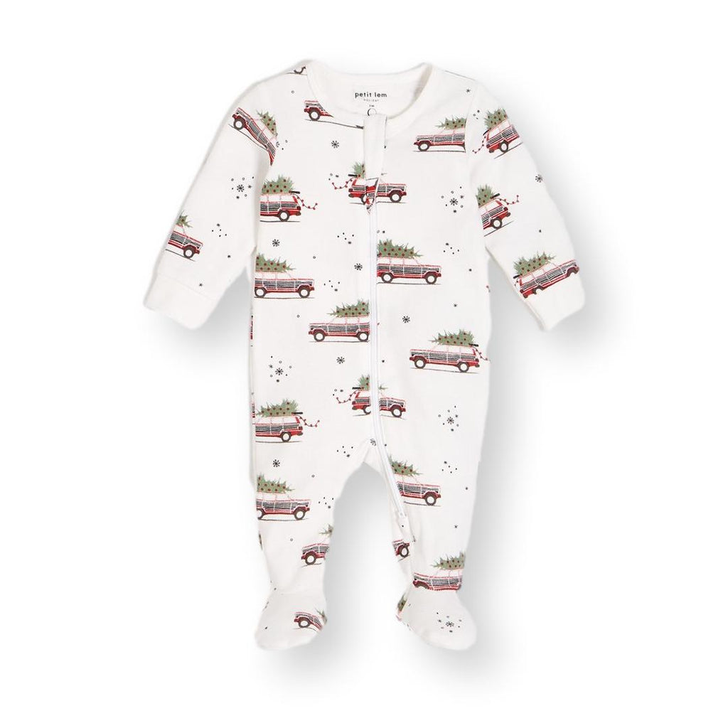 """Home for the Holidays"" Organic Cotton Footie"