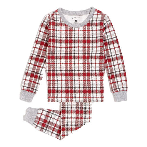 Red Plaid PJ Set- Organic Cotton