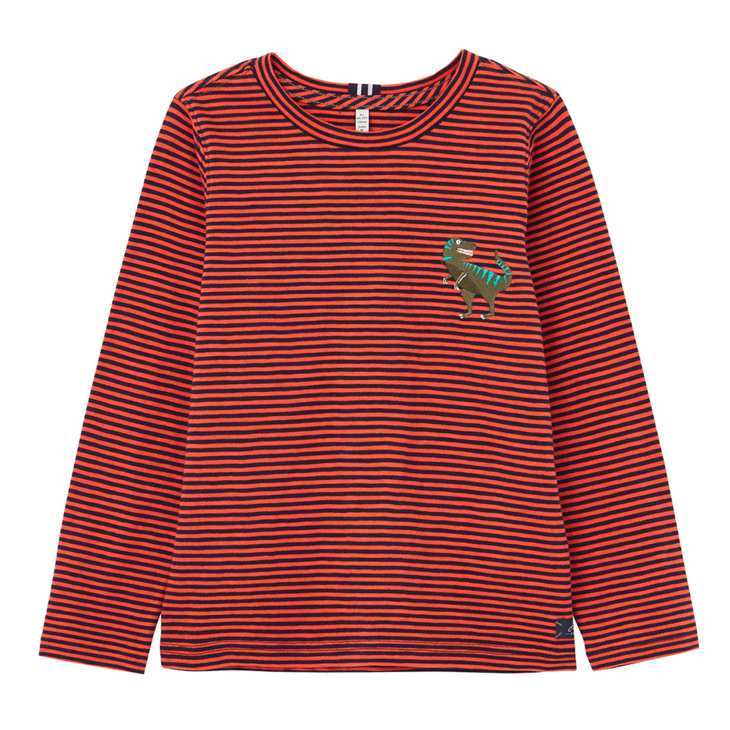 Dino Island Long Sleeve Embroidered T-Shirt