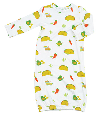 Taco Party Gown (Newborn-3 Months)