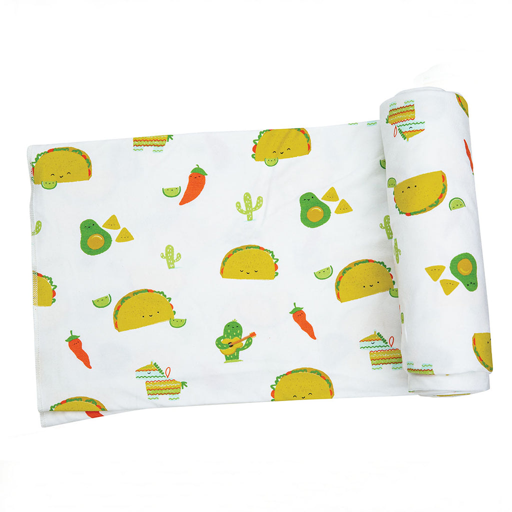 Taco Party Swaddle Blanket