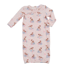 Load image into Gallery viewer, Woodland Deer Kimono Gown (Newborn-3 Months)