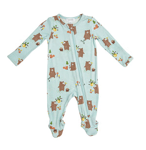 Baby Bear Zipper Footie