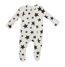 Load image into Gallery viewer, Stars- Zippered Footie (0-24 Months)