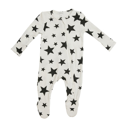 Stars- Zippered Footie (0-24 Months)