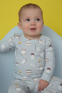 Smores- Zippered Footie (0-24 Months)