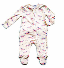 Load image into Gallery viewer, Cosmic Unicorn Zippered Footie with Ruffles (0-9 MONTHS)