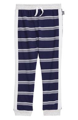 Striped Indigo Sky Jogger Pants