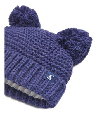Pom Pom Baby Knitted Hat -French Navy (0-24 Months)