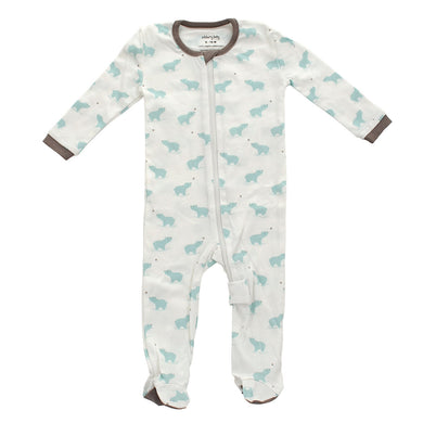Organic Cotton Footed Sleeper – Arctic Blue Bear